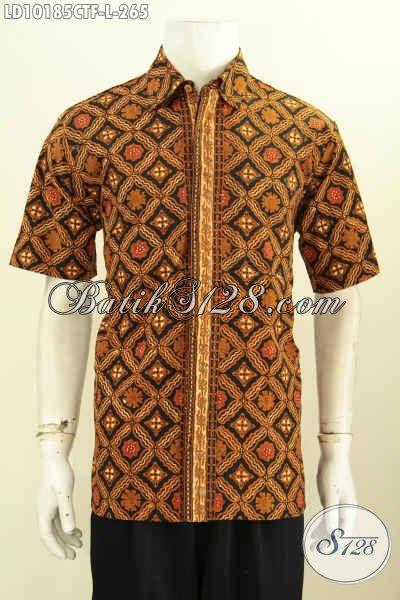 Model Baju Batik Pria Paling Baru, Batik Kemeja Istimewa Full Furing Motif Klasik Cap Tulis, Cocok Banget Untuk Kerja Dan Kondangan [LD10185CTF-L]