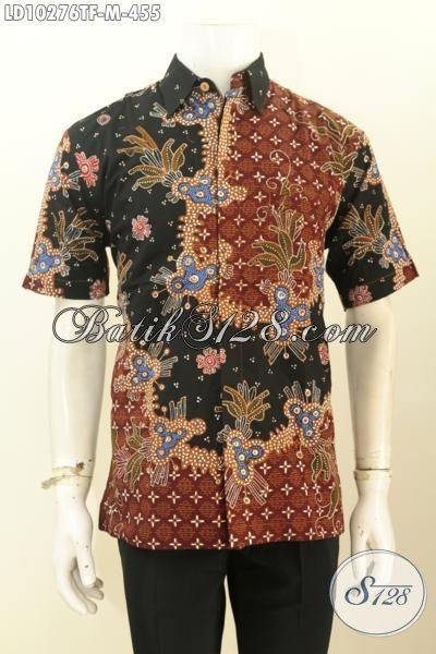 Model Baju Kemeja Batik Pria Lengan Pendek Halus Motif Bagus Proses Tulis Daleman Pake Furing Hanya 455 Ribu [LD10276TF-M]