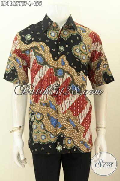 Model Baju Batik Pria Lengan Pendek Keren Bahan Adem Proses Tulis Daleman Full Furing, Penampilan Lebih Gagah Dan Tampan [LD10277TF-L]