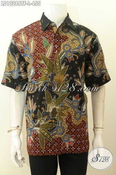 Model Baju Batik Solo Istimewa, Pakaian Batik Premium Lengan Pendek Khas Jawa Tengah Dengan Motif Kekinian Daleman Full Furing Bahan Adem Nyaman Di Pakai [LD10286TF-L]