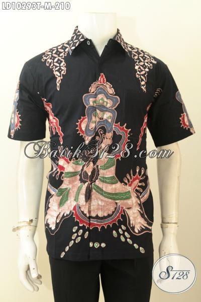 Jual Kemeja Batik Solo Istimewa, Pakaian Batik Jawa Tengah Terbaru Bahan Adem Proses Tulis Motif Bagus Hanya 200 Ribuan, Size M