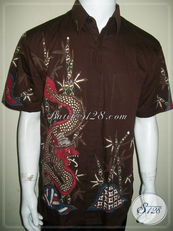 Jual kemeja batik tulis motif naga untuk pria tampil modis Jual baju gamis untuk pria