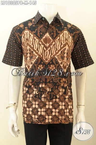 Model Baju Batik Pria Untuk Kerja Kemeja Batik Printing