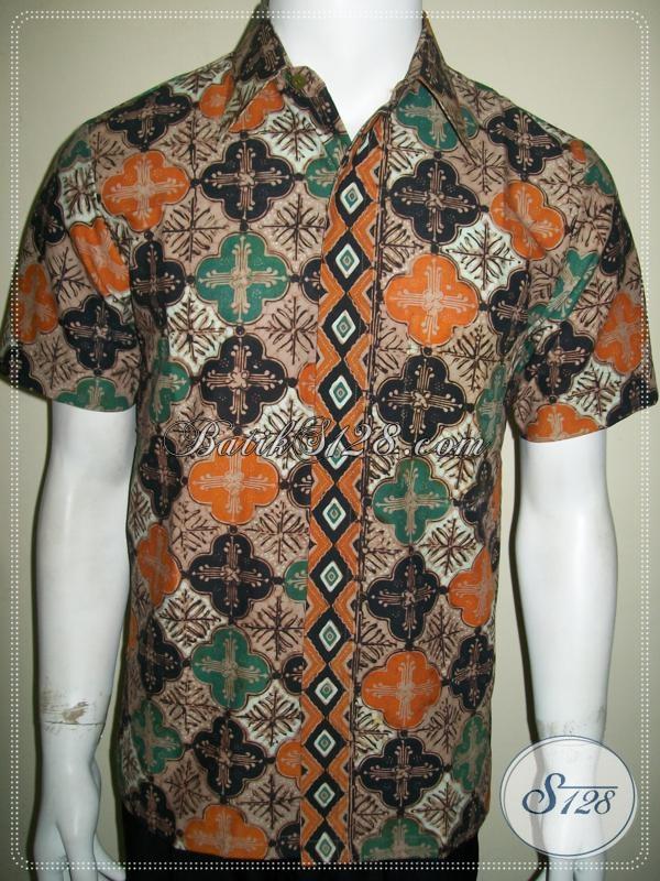 Kemeja Batik Ukuran S Elegan Dan Eksklusif Untuk Pria Kantoran [LD1036CT-S]