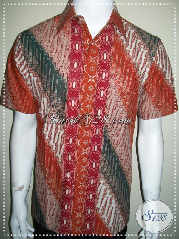 Hem Batik Tulis Solo Dijual Online Lengan Pendek Size M [LD1039CT-M]