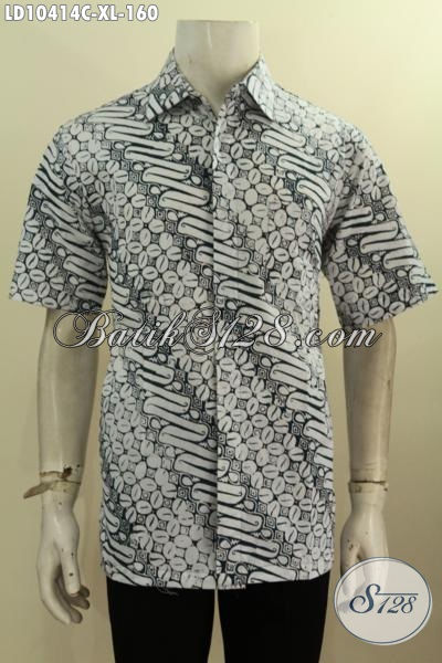 Batik Kemeja Lengan Pendek Halus Proses Cap Motif Klasik, Pakaian Batik Warna Cerah Untuk Kerja Dan Acara Resmi Tampil Terlihat Makin Tampan, Size XL