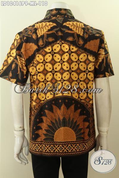 Kemeja Batik Printing Solo Elegan Dan Modis, Hem Batik Lengan Pendek Motif Klasik Berkelas Untuk Penampilan Makin Gagah, Size M – L