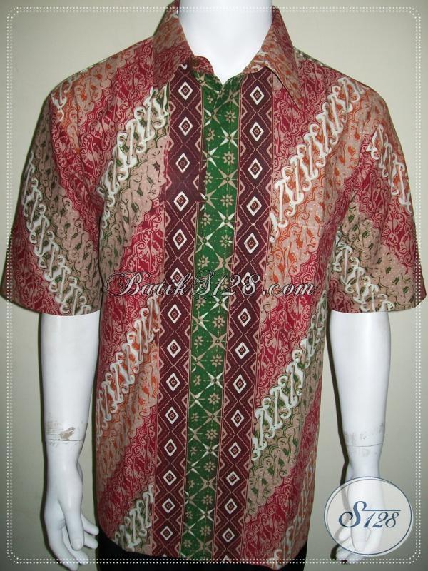 Kemeja Batik Size XL Untuk Kerja Kantor Pegawai Dan Karyawan [LD1042CT-XL]
