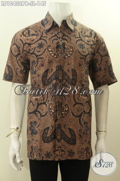 Baju Batik Keren Lengan Pendek Size L, Pakaian Batik Halus Yang Cocok Untuk Kerja Dan Santai Hanya 145K, Size L