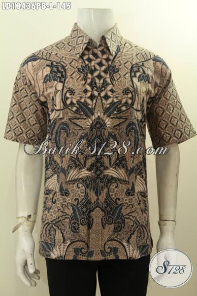 Pusat Baju Batik Solo Istimewa, Kemeja Batik Modern Lengan Pendek Unik Dan Kekinian, Menunjang Penampilan Lebih Keren Hanya 145 Ribu, Size L