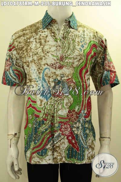 Produk Busana Batik Pria Kekinian Motif Burung Cendrawasih Proses Tulis Remekan, Batik Halus Nan Keren Cocok Buat Kerja Ataupun Jalan-Jalan [LD10478TRM-M]