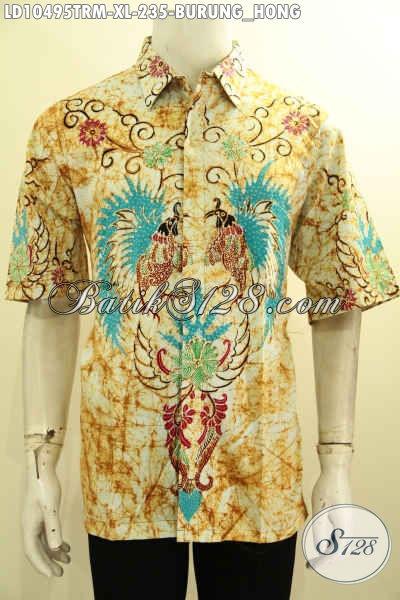 Baju Batik Keren Pria Dewasa Size XL, Kemeja Batik Modern Lengan Pendek Untuk Kerja Dan Hangout