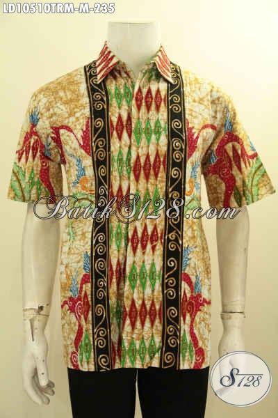Model Busana Batik Pria Terbaru, Hadir Dengan Motif Kombinasi Proses Tulis Remekan, Pakaian Batik Berkelas Harga 235K, Size M