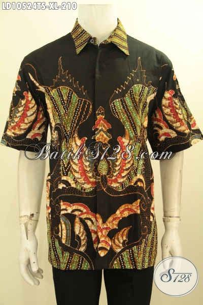 Baju Batik Pria Dewasa Dengan Motif Kekinian, Kemeja Batik Size XL Lengan Pendek, Pas Buat Kerja Dan Pesta [LD10524TS-XL]