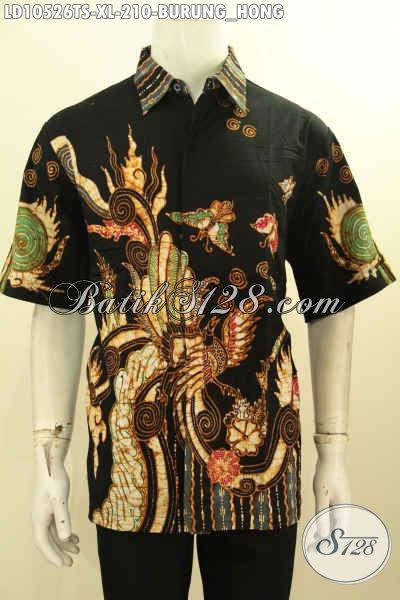 Model Baju Batik Pria Ukuran XL, Pakaian Batik Seragam Kerja Motif Burung Hong Proses Tulis Soga, Modis Juga Untuk Jalan-Jalan Harga 210 Ribu [LD10526TS-XL]