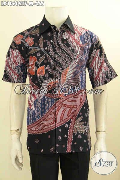 Model Baju Batik Pria Atasan Lengan Pendek Berkelas Proses Tulis Daleman Full Furing Bahan Adem Harga 455K [LD10602TF-M]