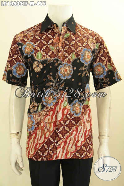 Batik Hem Solo Lengan Pendek Istimewa Full Furing Bahan Adem Dan Ringan Motif Tulis Asli Harga 455K, Size M
