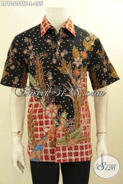Jual Kemeja Batik Tulis Size L, Hem Batik Keren Motif Bagus Banget Dan Kekinian Bahan Adem Daleman Full Furing, Pas Buat Ngantor