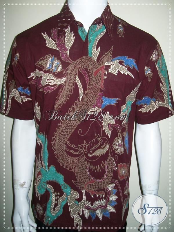 Batik Naga Merah Keran, Batik Tulis Pria Lengan Pendek [LD1060T-M]