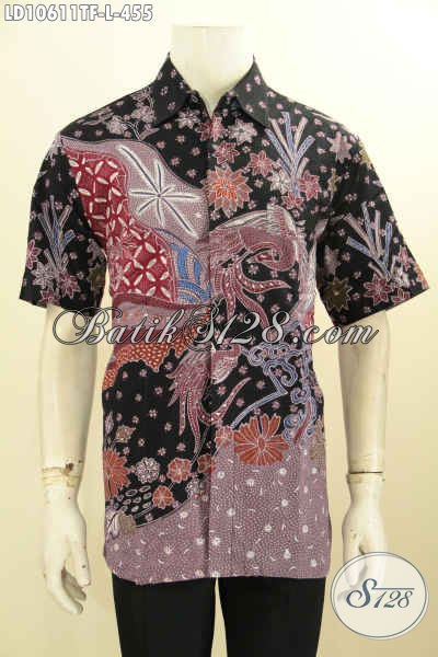 Baju Batik Tulis Modis, Hem Batik Modern Motif Terkini Daleman Full Furing, Pas Banget Buat Ngantor, Size L