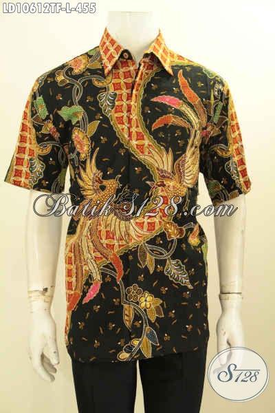 Jual Produk Baju Kemeja Batik Elegan Modis Dan Keren, Pakaian Baik Tulis Solo Lengan Pendek Full Furing, Cocok Buat Santai Dan Resmi [LD10612TF-L]