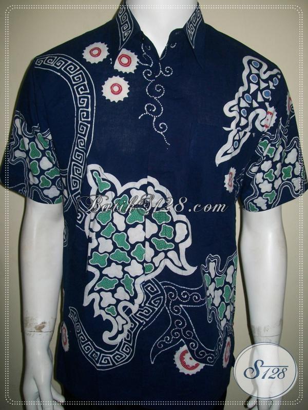 Baju Batik Warna Biru Batik Tulis Online Solo Mas Bro