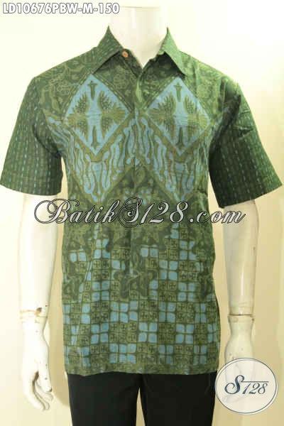 Model Kemeja Batik Pria Lengan Pendek Motif Kekinian, Hem Batik Solo Kwalitas Bagus Hanya 100 Ribuan, Cocok Buat Ngantor, Size M