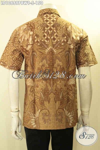 Model Baju Batik Pria Muda Size S, Hem Batik Elegan Lengan Pendek Pas Banget Untuk Acara Resmi, Busana Batik Solo Istimewa Harga Biasa [LD10689PBW-S]
