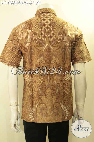 Produk Baju Batik Solo Lengan Pendek Kekinian, Hem Batik Halus Motif Tren 2018 Hanya 150K, Size S