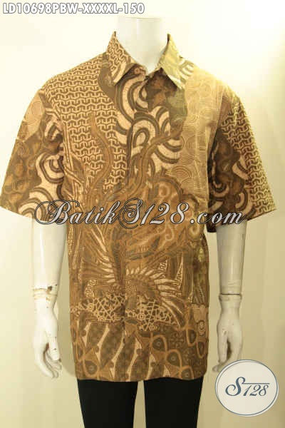 Produk Baju Batik Lengan Pendek L5, Batik Hem Solo Istimewa Bahan Adem Proses Printing Yang Membuat Penampilan Tampan Dan Gagah, Size XXXXL