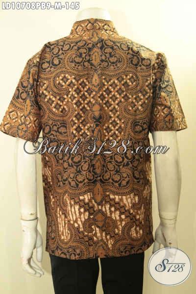 Hem Batik Klasik Keren Lengan Pendek Size M, Pakaian Batik Halus Khas Jawa Tengah Proses Printing Hanya 145K