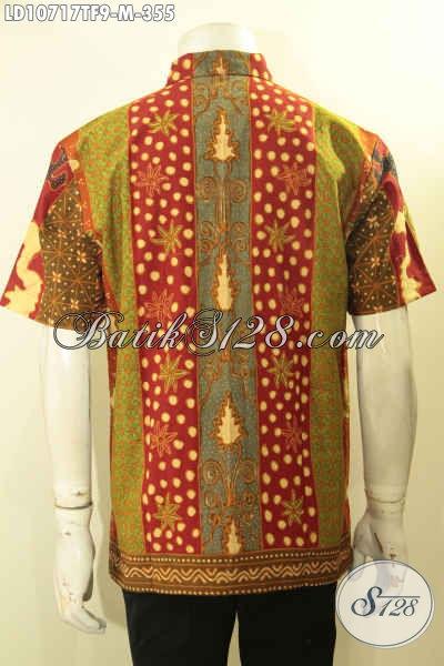Jual Kemeja Batik Elegan Motif Klasik Sinaran Nan Mewah Proses Tulis, Kemeja Batik Solo Asli Ukuran M Full Furing Hanya 300 Ribuan