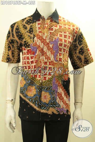 Model Pakaian Batik Lelaki Terkini, Hem Batik Istimewa Lengan Pendek Full Furing Motif Bagus Proses Tulis, Penampilan Tampan Dan Gagah, Size M