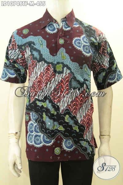 Produk Pakaian Batik Solo Jawa Tengah Kwalitas Istimewa, Busana Batik Modern Motif Mewah Proses Tulis Model Lengan Pendek Pake Furing, Penampilan Mewah Dan Menawan, Size M