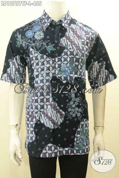 Model Baju Batik Pria Lengan Pendek Mewah Full Furing, Baju Batik Mahal Premium Eksklusif Untuk Pria Sukses Yang Ingin Tampil Gagah Berkelas [LD10757TF-L]