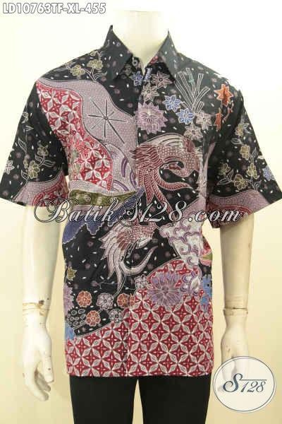 Jual Kemeja Batik Pria Terbaru, Hem Batik Size XL Mewah Full Furing Bahan Kwalitas Bagus Motif Elegan Proses Tulis, Cocok Banget Untuk Ngantor