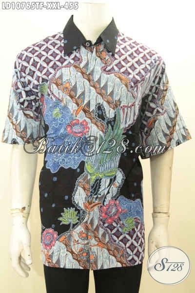 Model Baju Batik Pria Gemuk Nan Mewah Dan Mahal, Kemeja Batik Tulis Full Furing Motif Modern Klasik Proses Tulis Harga 455K [LD10765TF-XXL]