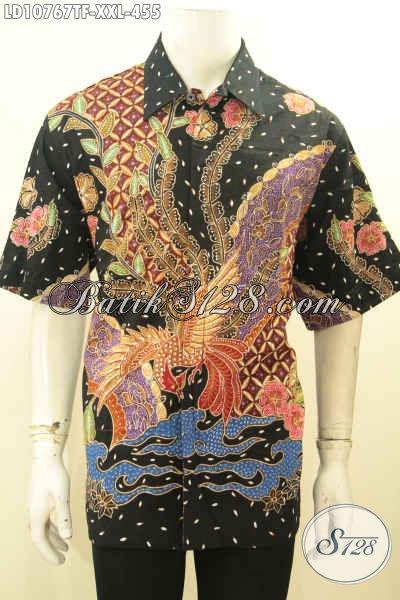 Model Baju Batik Kemeja Premium Spesial Untuk Lelaki Gemuk, Hem Batik Solo Nan Istimewa Proses Tulis Daleman Full Furing, Bisa Buat Ngantor Dan Kondangan, Size XXL