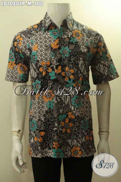 Model Baju Batik Pria Lengan Pendek Terbaru Hem Batik Modis Motif