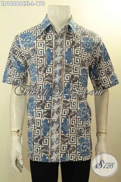 Produk Fashion Batik Untuk Pria, Kemeja Batik Lengan Pendek Hadir Dengan Motif Kekinian Proses Cap Harga 170K, Cocok Untuk Kerja Dan Acara Resmi