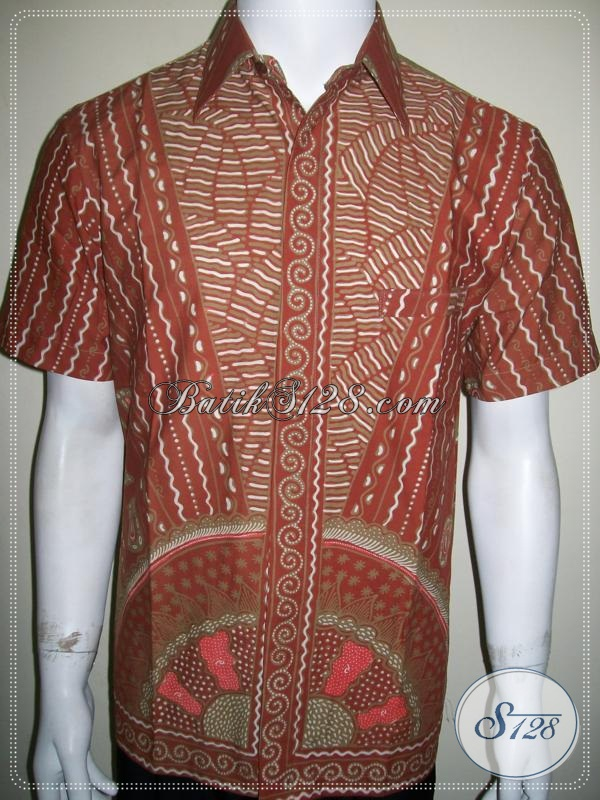 Batik Tidak Luntur, Untuk Pria Modern Lengan Pendek, Batik Tulis Unik