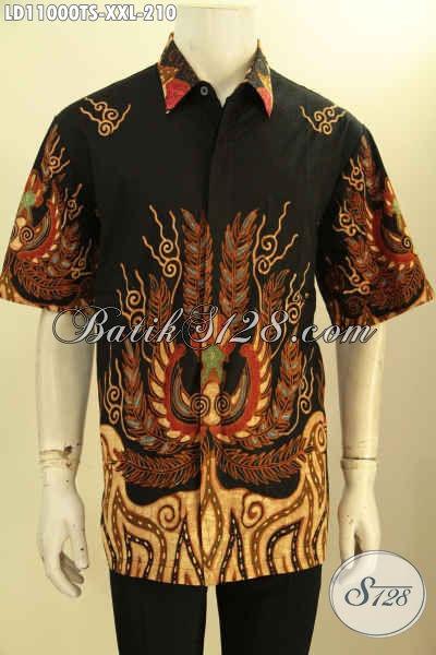 Hem Batik Tulis Soga Big Size, Kemeja Lengan Pendek Elegan Dan Istimewa Motif Bagus Kwalitas Istimewa Hanya 200 Ribuan, Pas Buat Ngantor