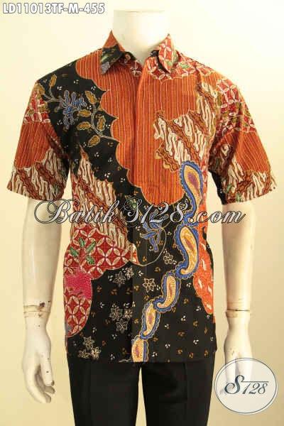 Baju Kemeja Batik Solo Full Furing Lengan Panjang Berkelas, Pakaian Batik Solo Terbaik Untuk Pria Tampil Gagah, Motif Bagus Proses Tulis Hanya 400 Ribuan