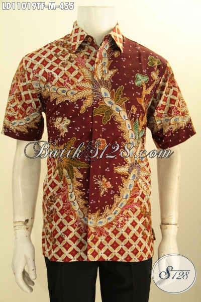 Produk Kemeja Batik Solo Lengan Panjang Istimewa, Pakaian Batik Halus Full Furing Bahan Adem Proses Tulis Motif Trendy, Pilihan Tepat Untuk Tampil Gagah