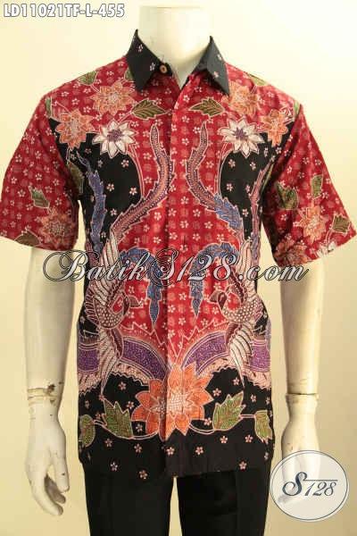 Baju Batik Solo Asli, Kemeja Batik Pria Kantoran Lengan Pendek Pake Furing, Busana Batik Tulis Motif Terbaru Yang Bikin Penampilan Gagah Dan Tampan