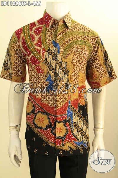 Busana Batik Solo Lengan Pendek Halus Kwalitas Istimewa, Pakaian Batik Kerja Terbaru Full Furing Bahan Adem Proses Tulis Motif Keren Harga 400 Ribuan Saja