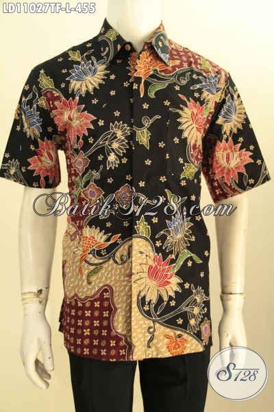 Jual Online Baju Kemeja Batik Lengan Pendek Full Furing, Busana Batik Solo Elegan Halus Bahan Adem Proses Tulis, Cocok Buat Ngantor