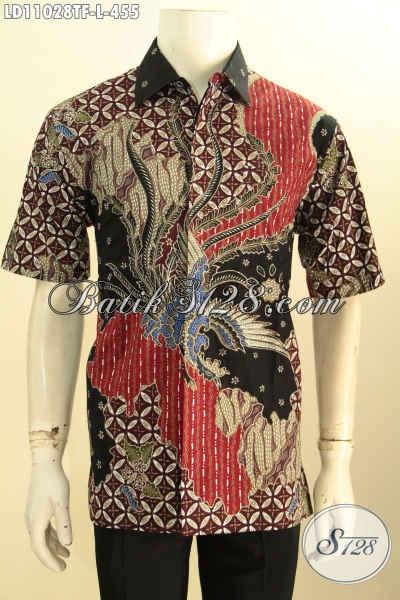 Baju Kemeja Batik Solo Tren Motif Terkini, Busana Batik Halus Motif Keren Tulis Asli, Pas Banget Untuk Acara Resmi Daleman Full Furing