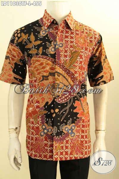 Busana Batik Solo Terbaru Untuk Seragam Kerja Motif Bagus Proses Tulis, Pakaian Batik Tulis Jawa Tengah Daleman Full Furing, Pria Terlihat Mempesona