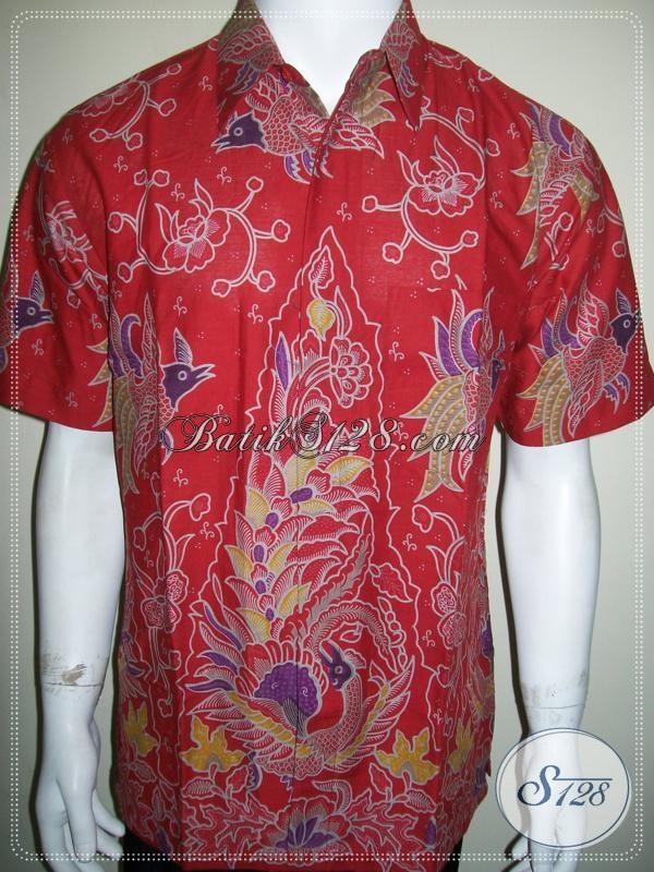 Jual baju batik murah online untuk pria warna merah Jual baju gamis untuk pria